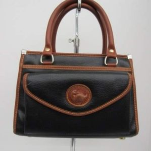 Vintage Dooney & Bourke Black/Brwn Leather Handbag
